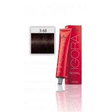 İgora Royal Saç Boyası 3.68 Koyu Kahve Kestane Kızıl 60 Ml