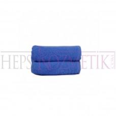 Ahfa Çift Katlı Saç Havlusu 50*90 Cm Saks Mavi