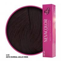 Nevacolor Premium Saç Boyası 6.52 Koyu Kumral Akaju İrize 50 Ml