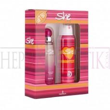 She Is Fun! Edt 50 Ml+Deodorant 150 Ml Set