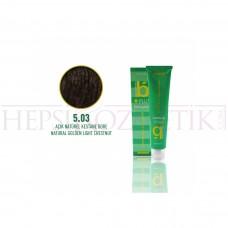 Bıorganic Plus Saç Boyası Açık Doğal Kestane Dore 5,03 60 Ml