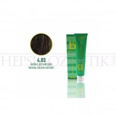 Bıorganic Plus Saç Boyası Doğal Kestane Dore 4,03 60 Ml