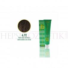Bıorganic Plus Saç Boyası Koyu Sarı Soğuk Bej 6,72 60 Ml