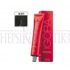 İgora Royal Absolutes Saç Boyası 8.211 Açık Kumral Küllü Yoğun Sandre 60 Ml