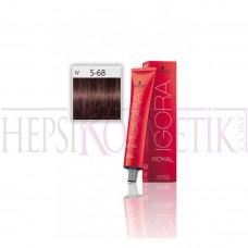 İgora Royal Saç Boyası 5.68 Açık Kahve Kızıl Kestane 60 Ml