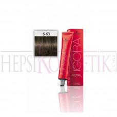 İgora Royal Saç Boyası 6.63 Koyu Kumral Mat Çikolata 60 Ml