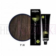 Inoa Saç Boyası 7,8 Kumral Mokka 60 Ml