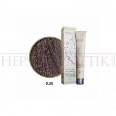 Seven Pigments Organic Saç Boyası 5.35 Açık Mahagoni Altın Kahve 60 Ml