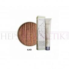 Natulika Organic Saç Boyası 6.43 Altın Mahagoni Koyu Kumral 60 Ml