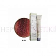 Natulika Organic Saç Boyası 6.55 Koyu Kumral Yoğun Kızıl 60 Ml