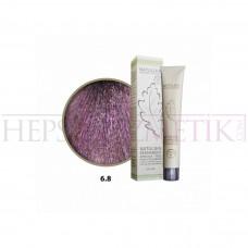 Natulika Organic Saç Boyası 6.8 Koyu Kumral Viyole 60 Ml