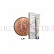 Natulika Organic Saç Boyası 7.43 Altın Kumral Bakır 60 Ml
