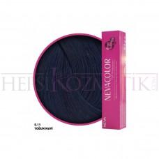 Nevacolor Premium Saç Boyası 0.11 Yoğun Mavi S50 Ml