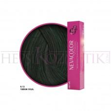 Nevacolor Premium Saç Boyası 0.13 Yoğun Yeşil 50 Ml