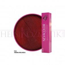 Nevacolor Premium Saç Boyası 0.66 Yoğun Ateş Kızılı 50 Ml