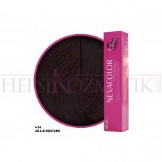Nevacolor Premium Saç Boyası 4.56 Akaju Kestane 50 Ml