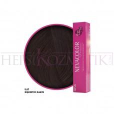 Nevacolor Premium Saç Boyası 5.07 Kışkırtıcı Kahve 50 Ml