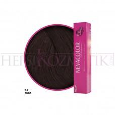 Nevacolor Premium Saç Boyası 5.7 Moka 50 Ml