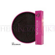 Nevacolor Premium Saç Boyası 5.77 Sütlü Çikolata 50 Ml