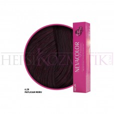Nevacolor Premium Saç Boyası 6.20 Patlıcan Moru- Kalıcı Krem 50 Ml
