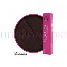 Nevacolor Premium Saç Boyası 6.35 Çikolata Karamel 50 Ml