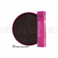 Nevacolor Premium Saç Boyası 6.70 Koyu Kumral Kakao Kahve 50 Ml