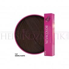 Nevacolor Premium Saç Boyası 7.07 GizeMli Kahve 50 Ml