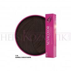 Nevacolor Premium Saç Boyası 7.70 Kumral Kakao Kahve 50 Ml