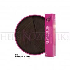 Nevacolor Premium Saç Boyası 7.90 Kumral Tütün Kahve 50 Ml