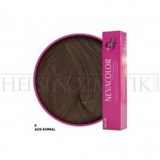 Nevacolor Premium Saç Boyası 8 Açık Kumral 50 Ml