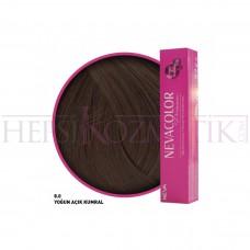 Nevacolor Premium Saç Boyası 8.0 Yoğun Açık Kumral 50 Ml