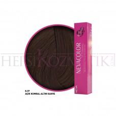 Nevacolor Premium Saç Boyası 8.37 Açık Kumral Altın Kahve 50 Ml