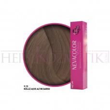 Nevacolor Premium Saç Boyası 9.13 Küllü Açık Altın Sarısı 50 Ml