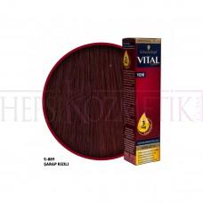 Vital Saç Boyası  5.889 Şarap Kızılı 60 Ml
