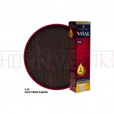 Vital Saç Boyası 7.65 Koyu Fındık Kabuğu 60 Ml