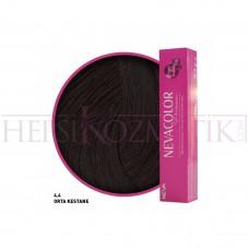 Nevacolor Premium Saç Boyası 4.4 Orta Kestane 50 Ml