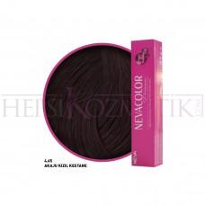 Nevacolor Premium Saç Boyası 4.65 Akaju Kızıl Kestane 50 Ml