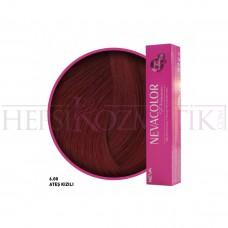 Nevacolor Premium Saç Boyası 6.00 Ateş Kızıl 50 Ml