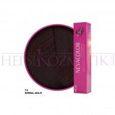 Nevacolor Premium Saç Boyası 7.5 Kumral Akaju  50 Ml