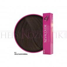 Nevacolor Premium Saç Boyası 8.1 Küllü Açık Kumral 50 Ml